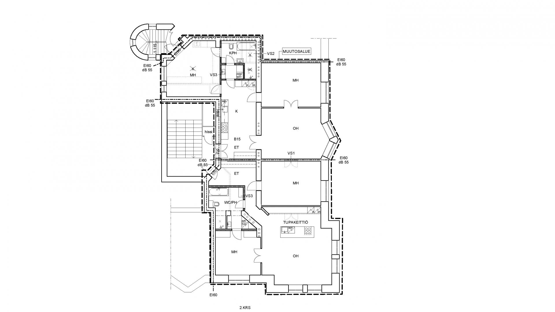Katajanokankatu 7 Apartment Renovation Hvac Design And Drawing Our Office Was Also Responsible For Construction